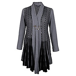 Samya - Grey pinned knitted cardigan