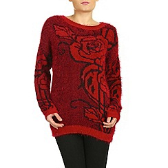 Izabel London - Red long sleeve knitted pullover