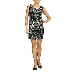 Mandi - Multicoloured sleeveless aztec sequin dress
