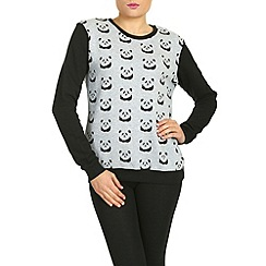 Sugarhill Boutique - Grey panda sweater