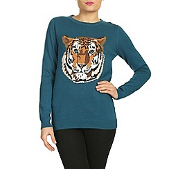 Sugarhill Boutique - Blue tiger sweater