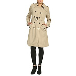 Cutie - Beige fitted trench coat