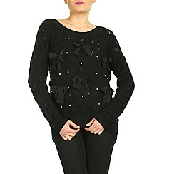 Jumpo London - Black lace bow jumper