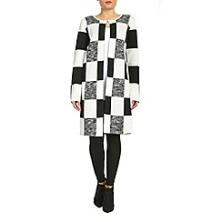 Jumpo London - Black chess pattern cardigan