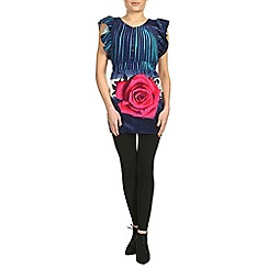 Jumpo London - Navy lace rose print tunic