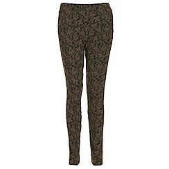 NandWillow - Dark brown butterfly trousers