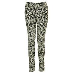 NandWillow - Beige butterfly trousers