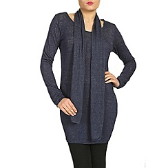 NandWillow - Navy over dress with scarf