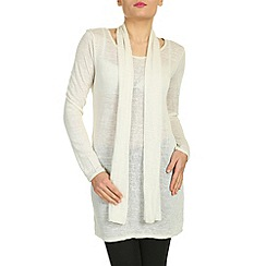 NandWillow - Beige over dress with scarf