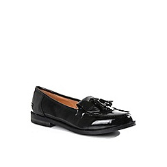 Alice & You - Black tassel detail patent loafers