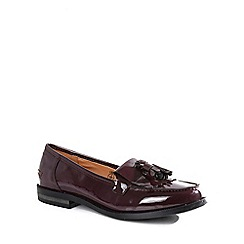 Alice & You - Wine tassel detail patent loafers
