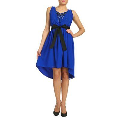 Ayarisa Blue sequin halter dress - . -