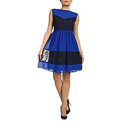 Ayarisa - Blue audrey mesh overlay prom dress