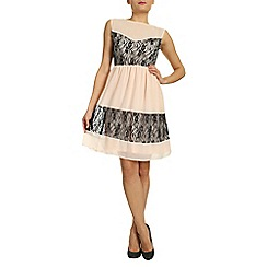 Ayarisa - Black audrey mesh overlay prom dress