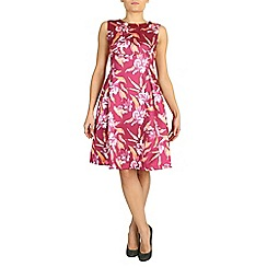Jolie Moi - Red empire waist floral dress