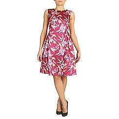 Jolie Moi - Red empire waist floral dress