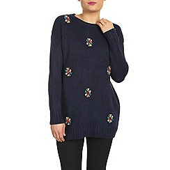 Cutie - Navy loose fit jumper