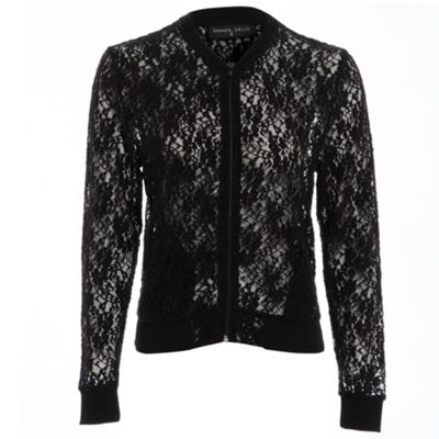 Damned Delux Black lace bomber - S/M. -