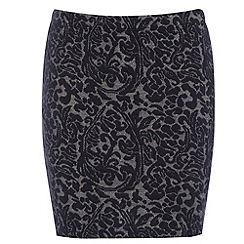 Damned Delux - Black jacquard mini skirt