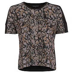 Damned Delux - Black scuba daisy sublimation top