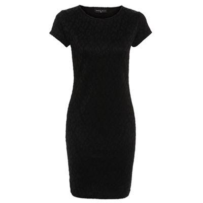 Damned Delux Black bonded lace dress - . -