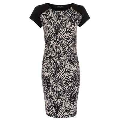 Damned Delux Animal Print mixed animal dress - . -