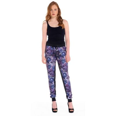 Damned Delux Multicoloured printed floral jogger - . -