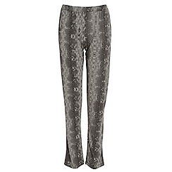 Damned Delux - Ivory snake print slouch trouser