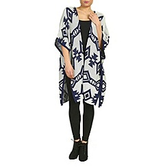 Izabel London - Blue diamond print knitted cardigan