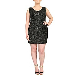 Samya - Black sleeveless sequin dress