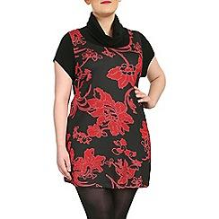 Samya - Red short sleeve dress