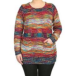 Samya - Red full sleeve knitted pullover