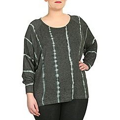 Samya - Grey long sleeve stripe print top