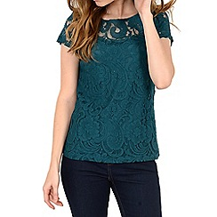 Alice & You - Dark turquoise lace layer tee