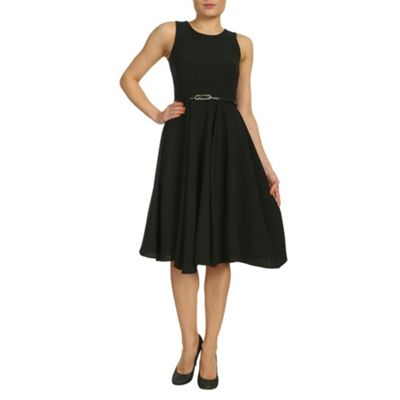Black closet panel belted full dress - . -