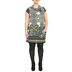 Samya - Multicoloured cap sleeve floral printed top