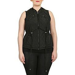 Samya - Black sleeveless puffer vest
