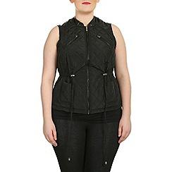 Samya - Black sleeveless puffer vest