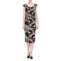 Jolie Moi - Navy floral print bodycon dress