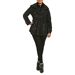 Samya - Black long sleeve overlayed coat