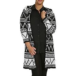 Samya - Multicoloured long sleeve knitted cardigan