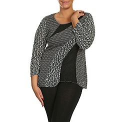 Samya - Grey patch work tunic top