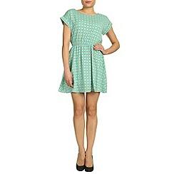 Jolie Moi - Aqua print short sleeved tunic