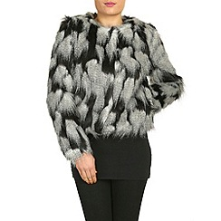 Jumpo London - Black faux fur coat