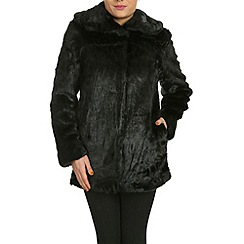 Jumpo London - Black faux fur coat