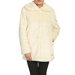 Jumpo London - Cream faux fur coat
