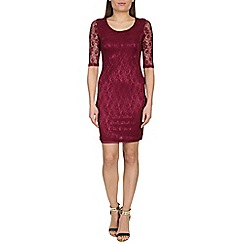 Alice & You - Wine lace layer midi dress