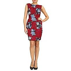 Closet - Wine flower print dress