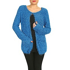 Pussycat London - Blue  eyelash knit open cardigan