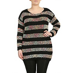 Samya - Black multi colour pullover
